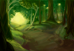 conceptart - asaea forest by monokin