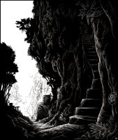 Stairway to the mine by Karbo