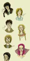 The Hunger Games: CHARACTERS by xxIgnisxx