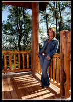 carol on her backporch by scottchurch