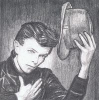 David Bowie raises his hat by gagambo