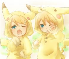 len and rin are pikachus by kael530