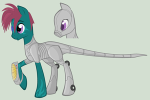 Aldar CyberPony from an RP with Levi by DragonLoverartis
