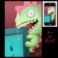 Dino Eat iPhone by AngryPotato