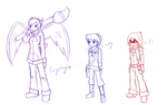 Main Characters Concept for Angel Guardians series by CrystalViolet500