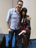 Me and Travis Willingham by ladysagefear