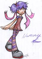 Old styled Naminu by cartoonmaniack