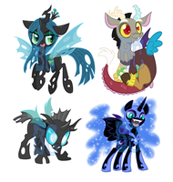 Villain Shrinkies by JitterbugJive