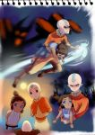aang and young korra by drchopper7