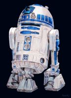 R2 - D2 painting (Star Wars) by whiterabbitart