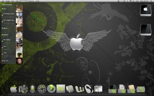 green and grey mac desktop by mushyppeaz