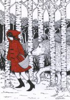 Red Riding Hood In The Silver Birch (For Sale) by Ezekiel-J
