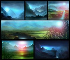 Speed Painting - landscapes Serie by Mogura-no-kanji