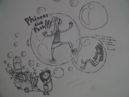 Phineas and Ferb the bubble blower 5000 by leoflynn