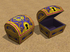 KH2 Aladdin Chest Papercraft by Tektonten