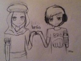 pewdie stephano brofist by purplepenguin013