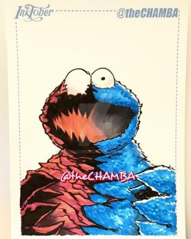 Inktober 2016 - 28 - Cookie Monster by theCHAMBA