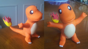 Charmander Figurine. My first figurine ever. by Super3dcow