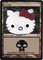 Altered Magic Card Hello Kitty by JessWells