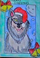 wolf christmas card for friend by OpheliaImmortal7