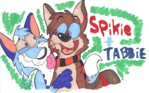 Tabbie and Spikie by Edorisuke