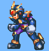Ultimate Armor X MMZ Style (Vectorized version) by MegaManGamer123