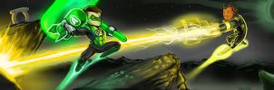 Green vs Yellow Epic Fight by Tallanx
