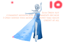 Queen Elsa of Arendelle Dress Slit (DOWNLOAD!) by King-Of-Snow