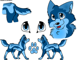 Aqua Wolf - Offer to Adopt / closed by goldbullet