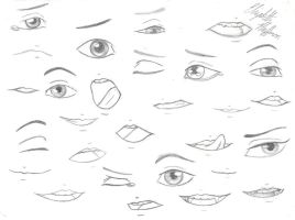 Drawing practice: Eyes and mouths by ArtisticallyLiterate