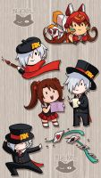 Anime Expo - Assorted Chibis by blk-kitti