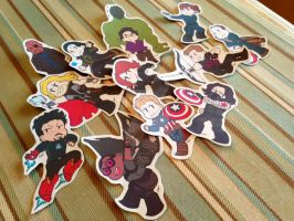 Avengers + The Winter Soldier Sticker set by ArtisticCole