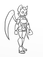 10 Minute Sketch: Android Fem Sigmarr by Inkwell-Pony