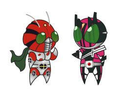 SD Kamen Rider ZX and DCD by RiderB0y