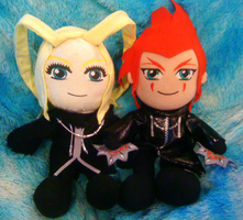 Larxel Plushies by Lavender-Star