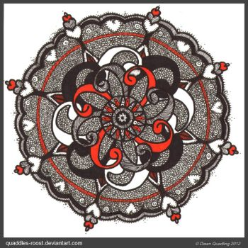 Lost In Meditation Mandala Finished by Quaddles-Roost