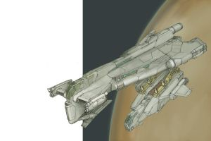 Jump Shuttle WIP 02 by MikeDoscher