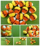 Amigurumi Candy Corn by pocket-sushi