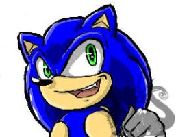 IS: Sonic doodle by InkTailedDragon