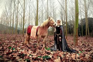 Queen Guinevere and her horse by Costurero-Real