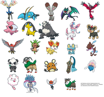 all Gottacatchemall.com Pokemon Official Art by DrewTheRedPoochyena