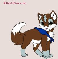 Kitten133 as a cat by goicesong1