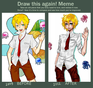 Spongebob Before and After by Maryenta