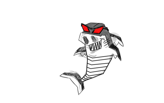 Request by Bruce - Robot Shark by sappels