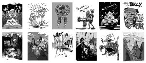 Inktober Collection by 3InkSheep