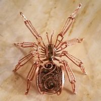 Copper wire wrapped spider by All Wrapped Up by Wrappedup1