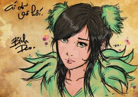 The green girl by KakaVuongDinh