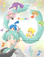 VOCALIOD: Miku with chibi friends by erichankun