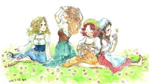 Hobbit girls by solalis1226