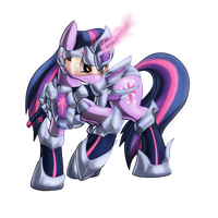 Armored Twilight Sparkle by Zedrin